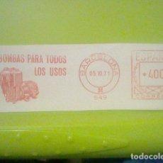 Sellos: BOMBAS BARCELONA MATASELLO RODILLO 5 10 1971 RECORTADO 12 CMS APROX LARGO. Lote 182864696