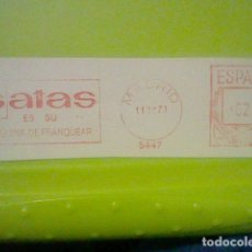 Sellos: SATAS MATASELLO RODILLO 11 XI 1971 RECORTADO 12 CMS APROX LARGO. Lote 182866485