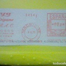 Sellos: YA DIGAME PRENSA MATASELLO MADRID RODILLO 8 XI 1971 RECORTADO 12 CMS APROX LARGO. Lote 182866665