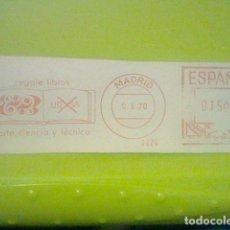 Sellos: REGALE LIBROS MATASELLO MADRID RODILLO 9 X 1970 RECORTADO 11 CMS APROX LARGO. Lote 182873191