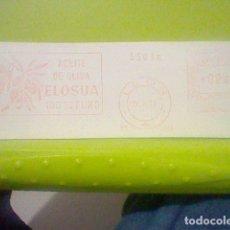 Sellos: ELOSUA ACEITE LEON MATASELLO MADRID RODILLO 1971 RECORTADO 14 CMS APROX LARGO. Lote 182874488