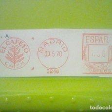 Sellos: EL CAFETO MATASELLO RODILLO 1970 RECORTADO 10 CMS APROX LARGO. Lote 182874618
