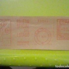 Sellos: BOE BOLETIN OFICIAL ESTADO MADRID MATASELLO RODILLO 1971 RECORTADO 14 CMS APROX LARGO. Lote 182874728
