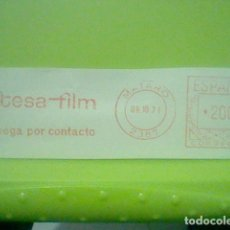 Sellos: TESA FILM MATARO MATASELLO RODILLO 1971 RECORTADO 12 CMS APROX LARGO. Lote 182875206