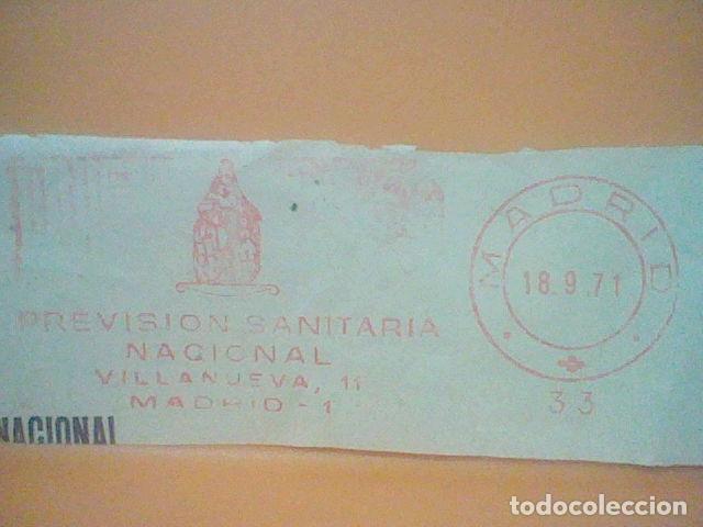 Sellos: PREVISION SANITAVIO MADRID MATASELLO RODILLO 1971 RECORTADO 12 CMS APROX LARGO - Foto 2 - 182878435