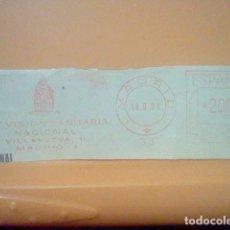 Sellos: PREVISION SANITAVIO MADRID MATASELLO RODILLO 1971 RECORTADO 12 CMS APROX LARGO. Lote 182878435