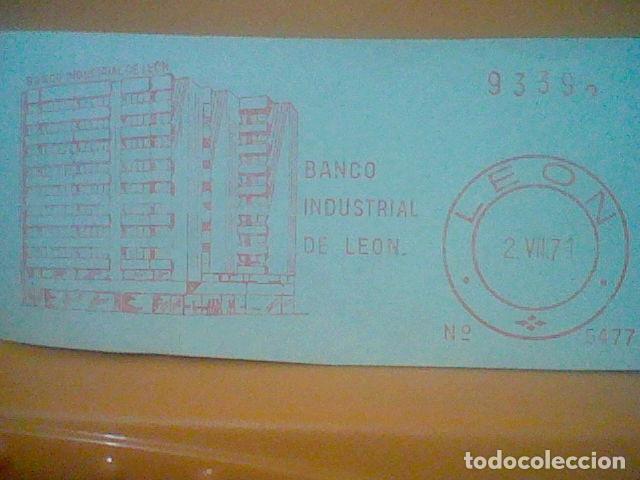 Sellos: BANCO INDUSTRIAL LEON MATASELLO RODILLO 1971 RECORTADO 14 CMS APROX LARGO - Foto 2 - 182878948