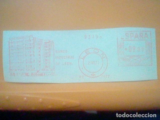 BANCO INDUSTRIAL LEON MATASELLO RODILLO 1971 RECORTADO 14 CMS APROX LARGO (Sellos - Material Filatélico - Otros)
