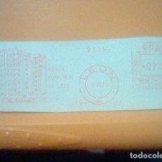 Sellos: BANCO INDUSTRIAL LEON MATASELLO RODILLO 1971 RECORTADO 14 CMS APROX LARGO. Lote 182878948