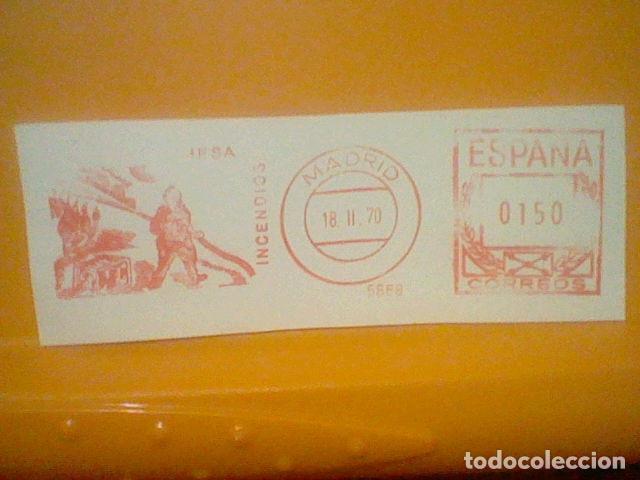 INCENDIOS MATASELLO RODILLO 1970 RECORTADO 12 CMS APROX LARGO (Sellos - Material Filatélico - Otros)