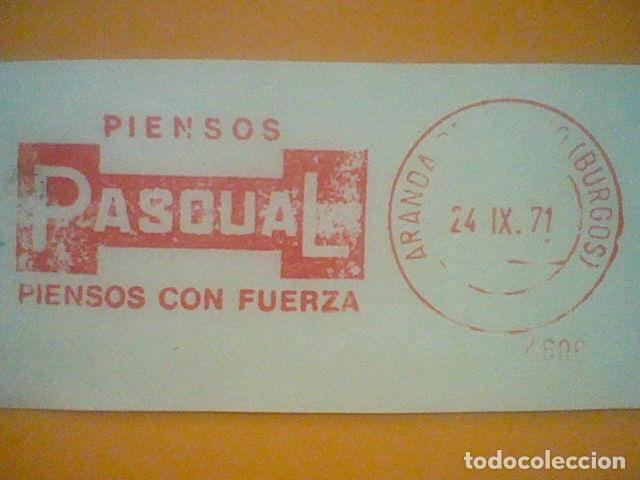 Sellos: PASCUAL PIENSOS MATASELLO RODILLO 24 IX 1970 RECORTADO 11 CMS APROX LARGO - Foto 2 - 182879473