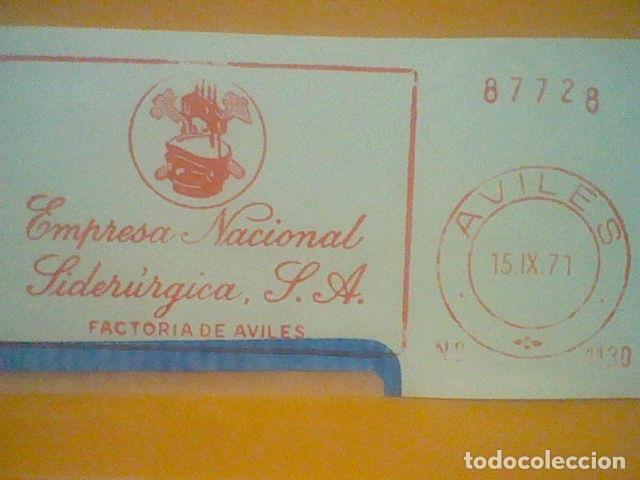 Sellos: SIDERURGIA AVILES MATASELLO RODILLO 1971 RECORTADO 14 CMS APROX LARGO - Foto 2 - 182879635