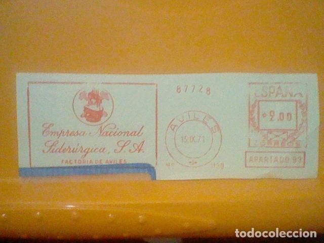 SIDERURGIA AVILES MATASELLO RODILLO 1971 RECORTADO 14 CMS APROX LARGO (Sellos - Material Filatélico - Otros)