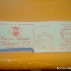 Sellos: SIDERURGIA AVILES MATASELLO RODILLO 1971 RECORTADO 14 CMS APROX LARGO. Lote 182879635