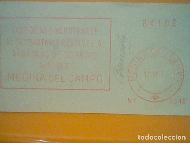 Sellos: MEDINA CAMPO MATASELLO RODILLO 1971 RECORTADO 14 CMS APROX LARGO - Foto 2 - 182879765