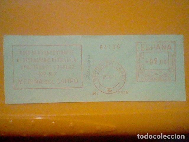 MEDINA CAMPO MATASELLO RODILLO 1971 RECORTADO 14 CMS APROX LARGO (Sellos - Material Filatélico - Otros)