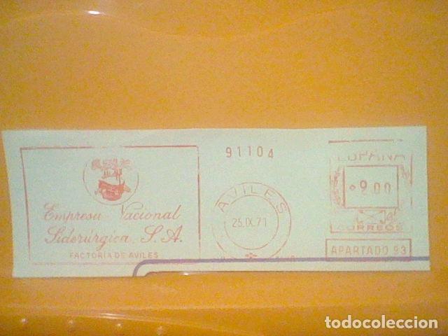 SIDERURGIA AVILES MATASELLO RODILLO 25 IX 1971 RECORTADO 14 CMS APROX LARGO (Sellos - Material Filatélico - Otros)