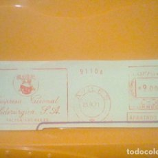 Sellos: SIDERURGIA AVILES MATASELLO RODILLO 25 IX 1971 RECORTADO 14 CMS APROX LARGO. Lote 182880452
