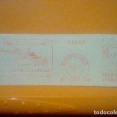 Sellos: CHEQUES VIAJERO CORDOBA MATASELLO RODILLO 13 IX 1971 RECORTADO 14 CMS APROX LARGO. Lote 182880626