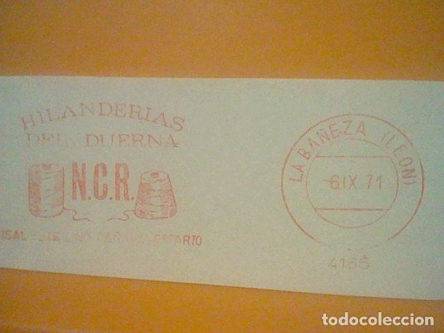 Sellos: HILANDERAS DUERNA BAÑEZA LEON MATASELLO RODILLO 1971 RECORTADO 14 CMS APROX LARGO - Foto 2 - 182880766