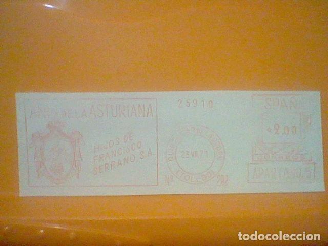 ANIS ASTURIANA QUINTANAR ORDEN TOLEDO MATASELLO RODILLO 1971 RECORTADO 14 CMS APROX LARGO (Sellos - Material Filatélico - Otros)