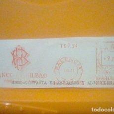 Sellos: BANCO BILBAO PALENCIA MATASELLO RODILLO 1971 RECORTADO 14 CMS APROX LARGO. Lote 182881283