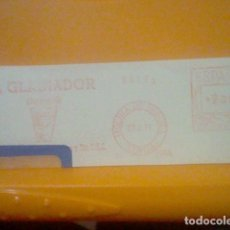 Sellos: GLADIADOR MOLINA SEGURA MURCIA MATASELLO RODILLO 1971 RECORTADO 14 CMS APROX LARGO. Lote 182881575