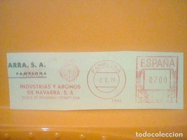 ABONOS PAMPLONA MATASELLO RODILLO 1970 RECORTADO 12 CMS APROX LARGO (Sellos - Material Filatélico - Otros)