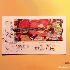 Sellos: ATMS - ETIQUETAS CORREOS - GUITARRA CON FRUTAS - MODELO 109 - AÑO 2005. Lote 185743633