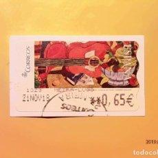 Sellos: ATMS - ETIQUETAS CORREOS - GUITARRA CON FRUTAS - MODELO 109 - AÑO 2005 - MEIRA (LUGO). Lote 185743680