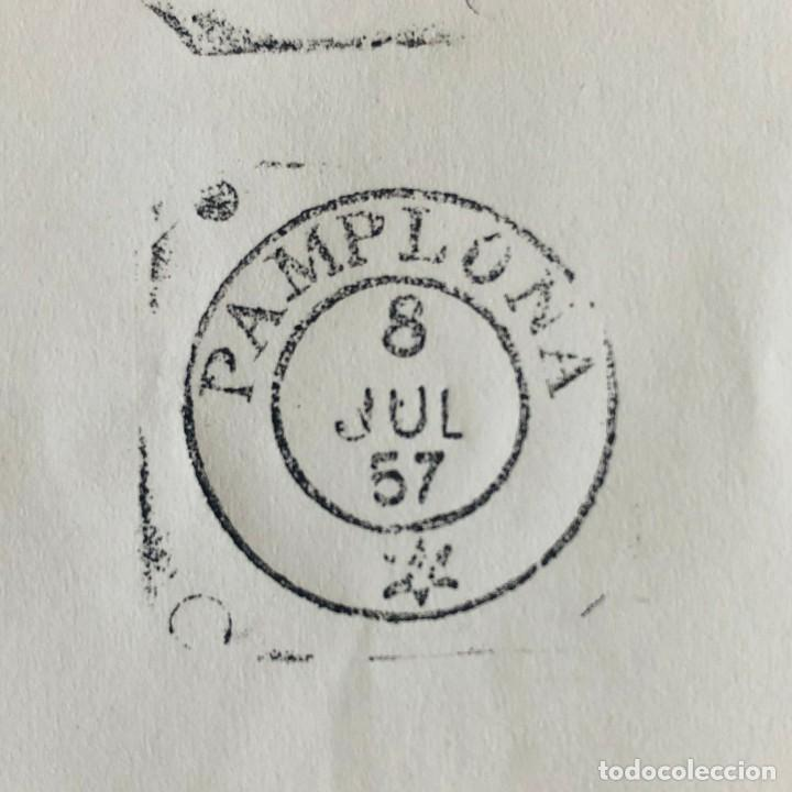 Sellos: PAMPLONA, 1957. FECHADOR CUÑO FILATÉLICO. SELLO TAMPÓN. RARO. - Foto 3 - 186704775