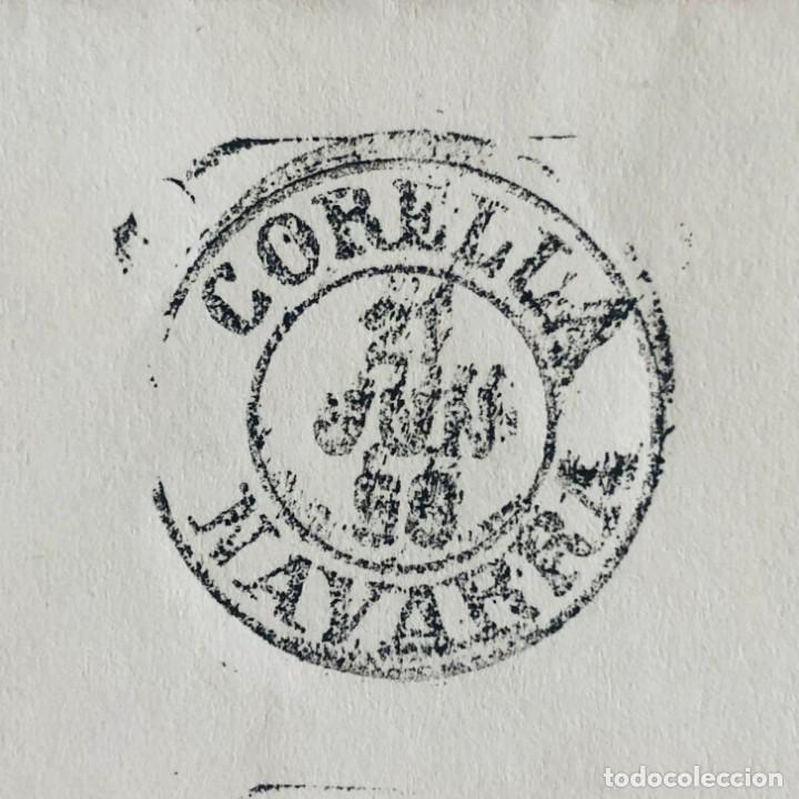 Sellos: CORELLA, NAVARRA. 1958. FECHADOR CUÑO FILATÉLICO. SELLO TAMPÓN. RARO. - Foto 3 - 186709575