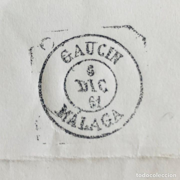 Sellos: GAUCIN, MÁLAGA. 1961. FECHADOR CUÑO FILATÉLICO. SELLO TAMPÓN. RARO. - Foto 3 - 186710907