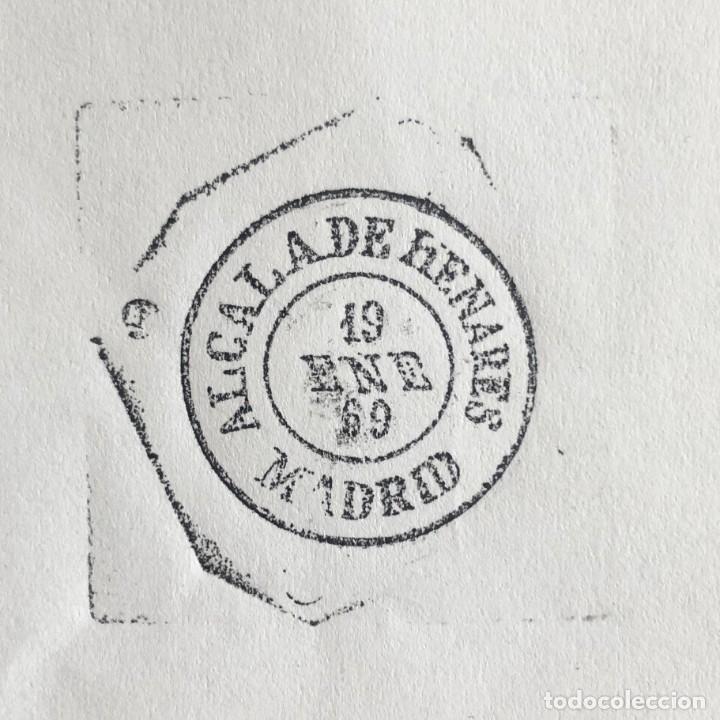 Sellos: ALCALÁ DE HENARES, MADRID. 1969. FECHADOR CUÑO FILATÉLICO. SELLO TAMPÓN. RARO. - Foto 3 - 186711757