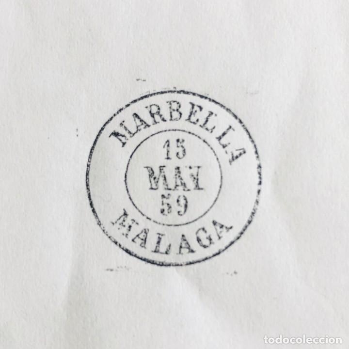 Sellos: MARBELLA, MÁLAGA. 1959. FECHADOR CUÑO FILATÉLICO. SELLO TAMPÓN. RARO. - Foto 3 - 186712290
