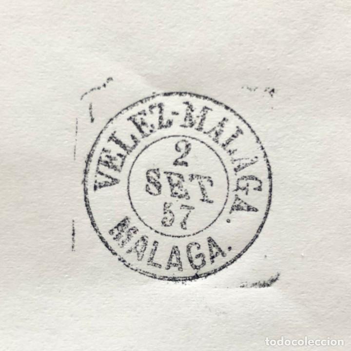 Sellos: VELEZ - MALAGA, MÁLAGA. 1957. FECHADOR CUÑO FILATÉLICO. SELLO TAMPÓN. RARO. - Foto 3 - 186716010