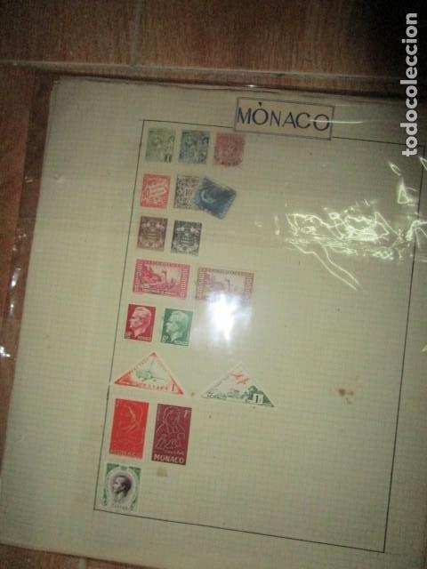 LOTE SELLOS ANTIGUOS MONACO (Sellos - Material Filatélico - Otros)