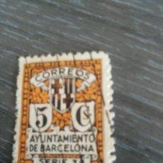 Sellos: 5 CS AYUNTAMIENTO DE BARCELONA SERIE 3 USADO. Lote 194208728