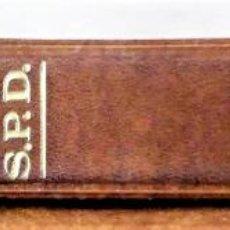 Sellos: CLASIFICADOR MARRÓN PARA SPD - POSTALES. BUEN ESTADO DE CONSERVACIÓN.. Lote 194650068
