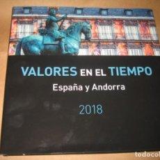 Sellos: LIBRO DE CORREOS VALORES EN EL TIEMPO ESPAÑA Y ANDORRA 2018. Lote 194898731