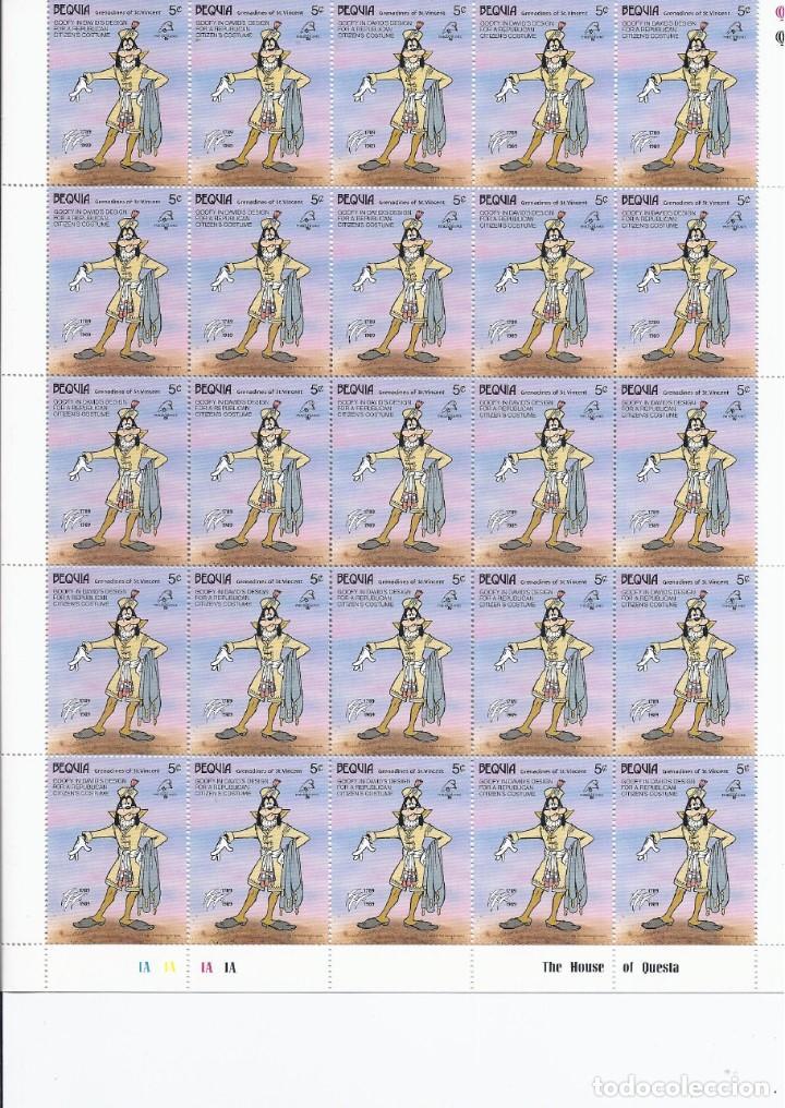 Sellos: Sellos de Walt Disney mini serie de 6 pliegos de 25 sellos de Bequia 1989 - Foto 2 - 245104205