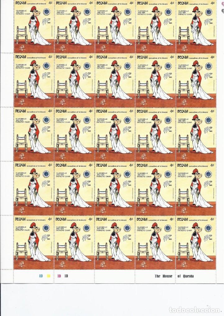 Sellos: Sellos de Walt Disney mini serie de 6 pliegos de 25 sellos de Bequia 1989 - Foto 3 - 245104205