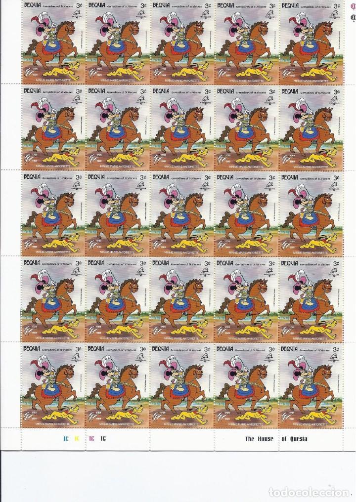 Sellos: Sellos de Walt Disney mini serie de 6 pliegos de 25 sellos de Bequia 1989 - Foto 4 - 245104205