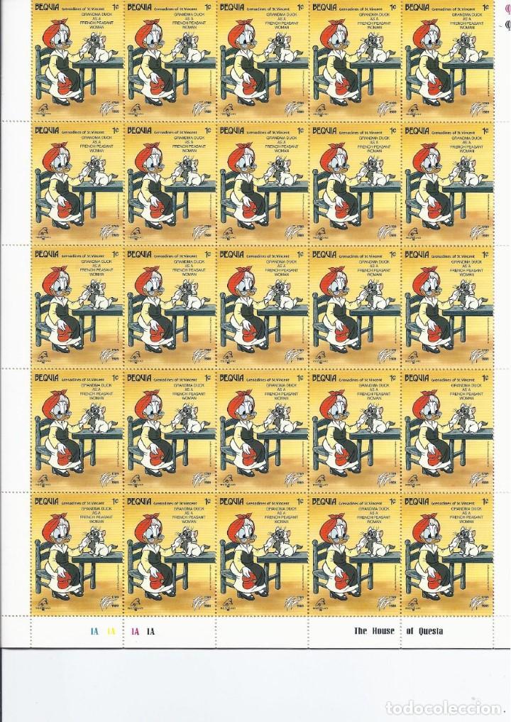Sellos: Sellos de Walt Disney mini serie de 6 pliegos de 25 sellos de Bequia 1989 - Foto 6 - 245104205