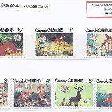 Sellos: SELLOS WALT DISNEY SERIE CORTA. GRENADA GRENADINAS 1980.. Lote 294492423