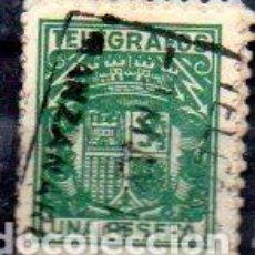 Sellos: ESPAÑA.- TELÉGRAFOS. AÑOS 1932/36, 1 PESETAS, EN USADO. Lote 198101440
