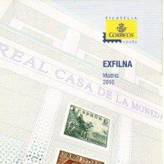 Sellos: ESPAÑA.- FOLLETO DE INFORMACIÓN FILATÉLICA AÑO 2010, EN NUEVO. Lote 198562442