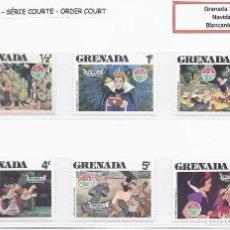 Sellos: SELLOS WALT DISNEY SERIE CORTA. GRENADA 1980. NAVIDAD. Lote 294492373