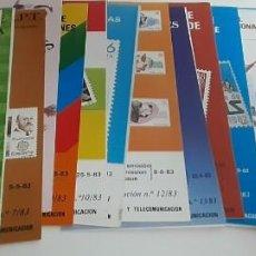 Sellos: 113 FOLLETOS EMISIONES CORREOS ENTRE 1982 Y 1986 NUEVOS-HOJAS INFORMATIVAS CORREOS (VER FOTOS). Lote 202748337
