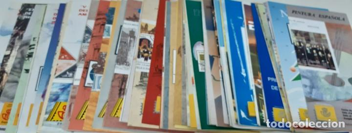 117 FOLLETOS EMISIONES CORREOS ENTRE 1991 Y 1995 NUEVOS-HOJAS INFORMATIVAS CORREOS COMPLETA (Sellos - Material Filatélico - Otros)